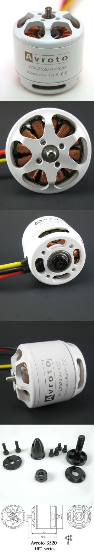 Avroto LIFT series 3520 520Kv Motor