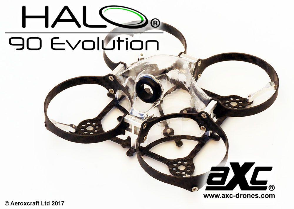 AXC Aeroxcraft Halo 90 Evolution 90mm Micro FPV Quad Frame w/CF Prop ...