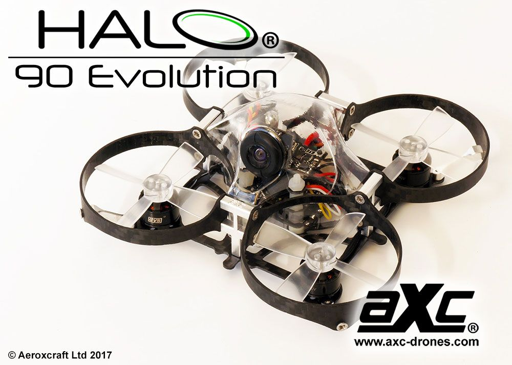 Aeroxcraft AXC Halo EVO Micro FPV Carbon Fiber Ducted Quad Frame ...