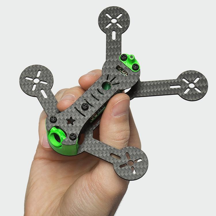 SPUTNIK SP117 FPV Micro Quad Racer Frame Kit with Adjustable Camera ...