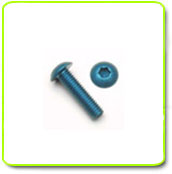 Blue Anodized Button Head Screws