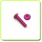 Purple Anodized Button Head Screws