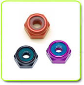 M3 3mm Hex Lock Nut Colored Aluminum