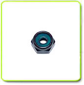 Low Profile Aluminum Black Anodized Hex Lock Nut