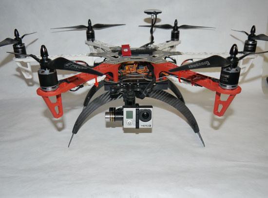 carbongear 130mm f550 carbon fiber landing gear