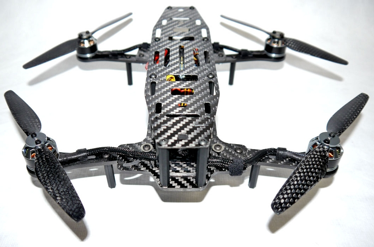 Phoenix Flight Gear Carbon Dragonfly HD 252mm Folding Mini-H FPV Frame
