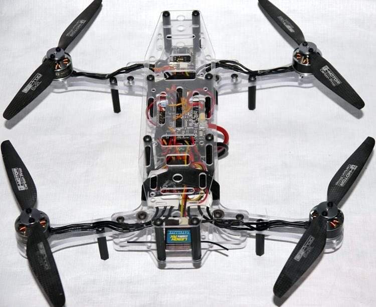 Phoenix Flight Gear Polycarbonate Dragonfly 252mm Folding Mini-H FPV ...