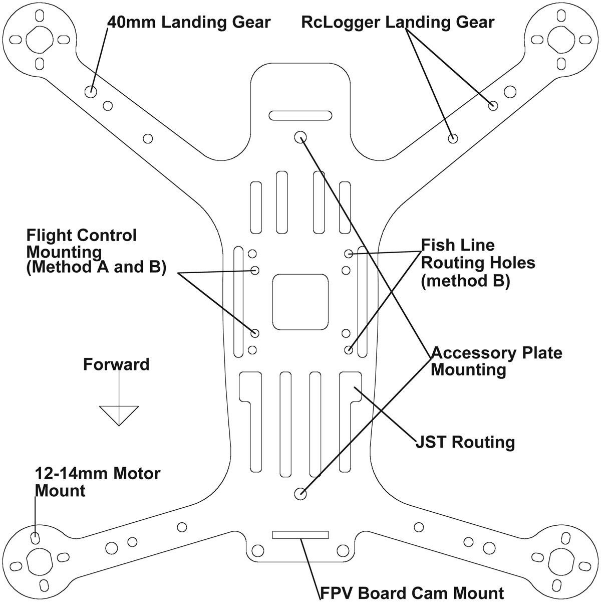 Phoenix flight gear carbon fiber 200qx hd mini h frame detailed installation diagram below cheapraybanclubmaster Gallery