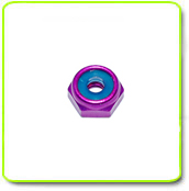 4mm / 5mm Low Profile Aluminum Purple Anodized Hex Lock Nut