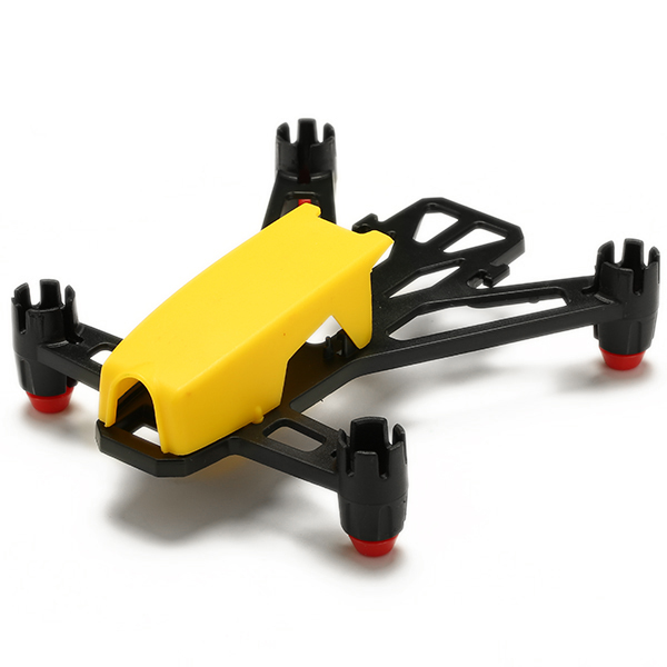 kingkong q100 100mm micro fpv brushed rc quadcopter frame kit for 8520 brushed motors yellow - Micro Quadcopter Frame