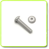 Silver Anodized Button Head Screws