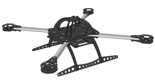 high quality 500mm foldable carbon fiber quad frame