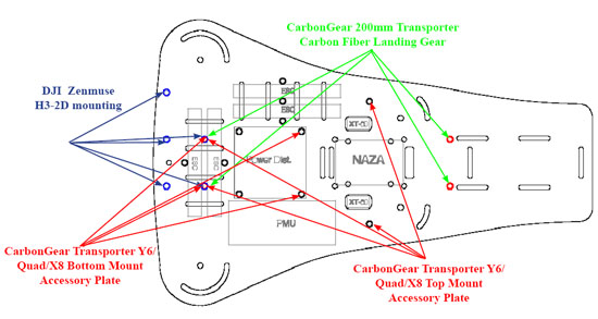 phoenix flight gear transporter 725mm spyder quad erless rtf kit cad diagrams show the recommended installation of the electronics american sized fasteners simplify the build using three tools a 1 16 hex 5 65 hex and