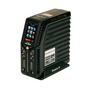 GRAUPNER POLARON EX 1400 DC DUAL Output Charger 1400W HV Capable - Black