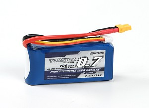 Turnigy 700mAh 3S 60C-120C Lipo Battery Pack w/XT30 Connector