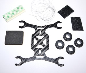 Phoenix Flight Gear 95mm Carbon Fiber Micro-H Frame 8.5mm Motor Edition