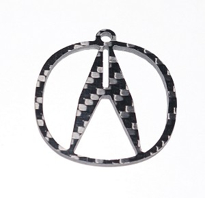 Carbon Fiber Specialties 3K Twill Weave Carbon Fiber Acura Key Ring Key Chain