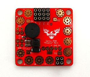 Genix Phoenix Power Distribution Board(PDB) w/Battery Low Voltage Buzzer