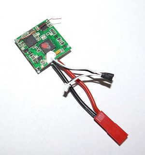 4-in-1 Control Unit Rx/ESCs/Gyro: Blade Nano QX FPV Flight Controller w/JST Battery Connector