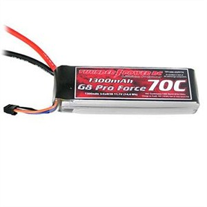 Thunder Power G8 Pro Force 7.4V 1300mAh 2S 70C LiPo THPTP1300-2SPF70