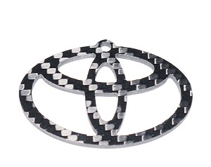Carbon Fiber Specialties 3K Twill Weave Carbon Fiber Toyota Key Ring Key Chain