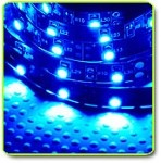 Super Bright LED Flexible 1 Meter Strip Blue