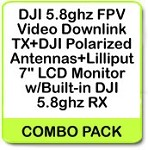 DJI 5.8ghz FPV Video Downlink TX+DJI Polarized Antennas+Lilliput 7