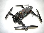 Phoenix Flight Gear Carbon Dragonfly 252mm Folding Mini-H FPV Frame Combo Kit