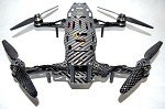 Phoenix Flight Gear Carbon Dragonfly HD 252mm Folding Mini-H FPV Frame Combo Kit
