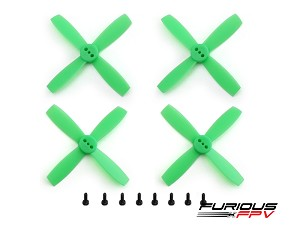 "FuriousFPV High Performance 2035-4 Propellers 2"" - Neon Green (2CW & 2CCW)"