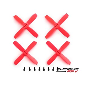 "FuriousFPV High Performance 2035-4 Propellers 2"" - Neon Red (2CW & 2CCW)"