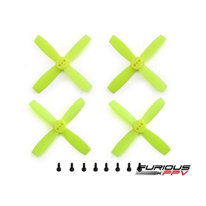 "FuriousFPV High Performance 2035-4 Propellers 2"" - Neon Yellow (2CW & 2CCW)"