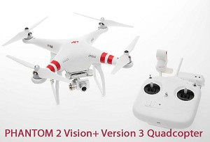 DJI Phantom 2 Vision+ Version 3 Quadcopter with FPV HD Video Camera and 3-Axis Gimbal