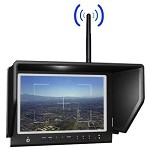 LILLIPUT 664/W 7 inch LCD FPV Monitor W/5.8 GHZ 8 CH RX - for DJI 5.8 & more