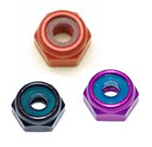 3mm Hex Lock Nut Aluminum,Low Profile Nylon insert 5.5mm Hex Colored Nuts (Each)