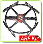Phoenix Flight Gear 328mm Flight Ring Carbon Fiber Quadcopter ARF Kit