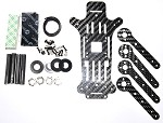 Phoenix Flight Gear Carbon Fiber 200QX Five Piece Mini-H Frame Kit