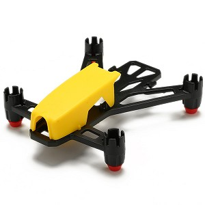 Kingkong Q100 100mm Micro FPV Brushed RC Quadcopter Frame Kit For 8520 Brushed Motors (Yellow)