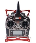 SECRAFT TX Transmitter Tray V1 Small for Spektrum DX9 - RED