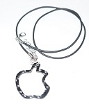 Carbon Fiber Specialties 3K Twill Weave Carbon Fiber Apple Pendant w/Rope Chain