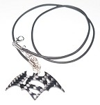 Carbon Fiber Specialties 3K Twill Weave Carbon Fiber Batman/Superman Pendant w/Rope Chain