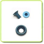 Blue Anodized 7075 Aircraft Quality Aluminum M3 x 6mm Countersunk Flat Head Screw+Countersunk Flat Washer (COPY)