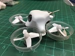 Tiny Whoop/Inductrix White Styrene Mullet Canopy For The Mullet Mod