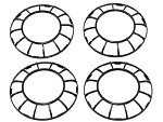 Blade Inductrix 200 Propeller Guards(4 total)(BLH9008)