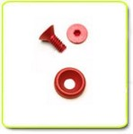 Red Anodized 7075 Aircraft Quality Aluminum M3 x 8mm Countersunk Flat Head Screw+Countersunk Flat Washer