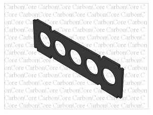 Y6 Co-Axial 23x1.5mm Frame Spacer Plate