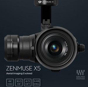 DJI Zenmuse X5 Gimbal and Camera (Lens excluded) for Inspire 1